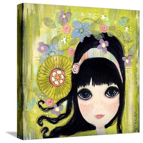 Big Eyed Girl Missing You-Wyanne-Stretched Canvas Print