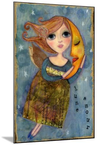 Big Eyed Girl Moon Love-Wyanne-Mounted Giclee Print