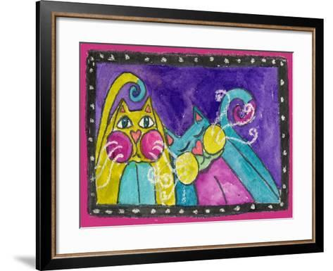 A Couple of Funky Cats-Wyanne-Framed Art Print