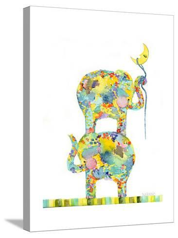 Lasso the Moon Elephants-Wyanne-Stretched Canvas Print