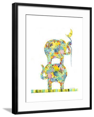 Lasso the Moon Elephants-Wyanne-Framed Art Print