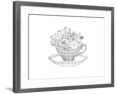 Daffodil Tea-The Tangled Peacock-Framed Art Print