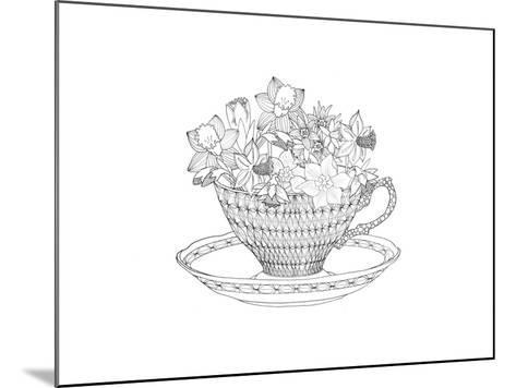 Daffodil Tea-The Tangled Peacock-Mounted Giclee Print