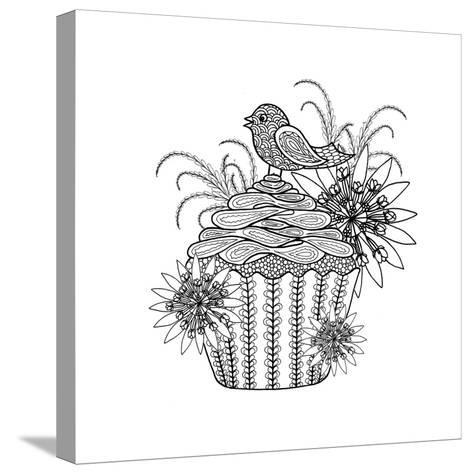 Fancy Cupcake-The Tangled Peacock-Stretched Canvas Print