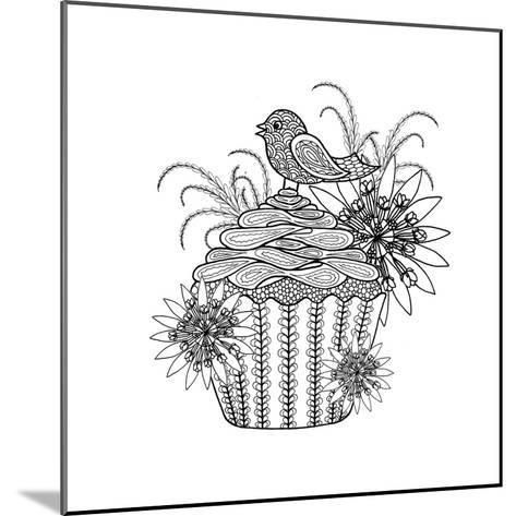 Fancy Cupcake-The Tangled Peacock-Mounted Giclee Print