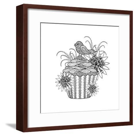 Fancy Cupcake-The Tangled Peacock-Framed Art Print