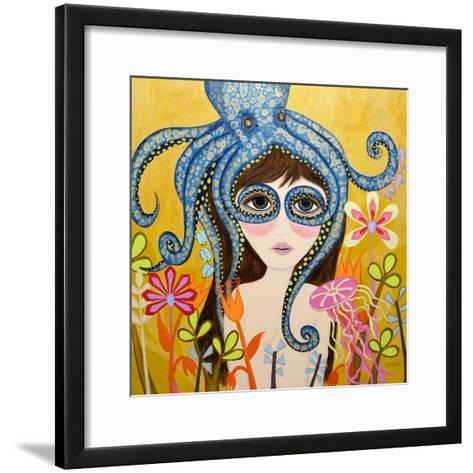 Big Eyed Girl She Can See Clearly Now-Wyanne-Framed Art Print