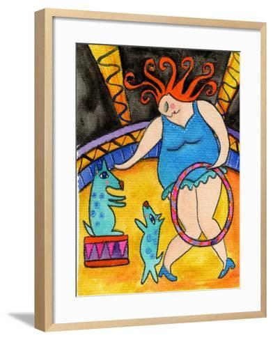 Big Diva and the Circus Dogs-Wyanne-Framed Art Print