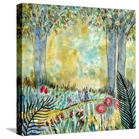 Three Rabbits-Wyanne-Stretched Canvas Print