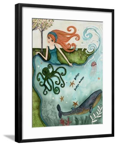 Big Eyed Girl Ocean Dreamer-Wyanne-Framed Art Print