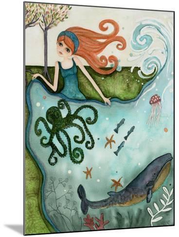 Big Eyed Girl Ocean Dreamer-Wyanne-Mounted Giclee Print