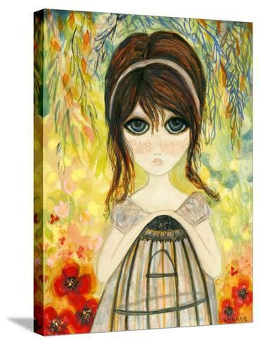 Big Eyed Girl Not Today-Wyanne-Stretched Canvas Print