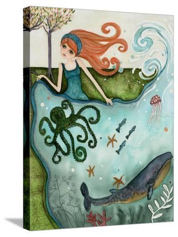 Big Eyed Girl Ocean Dreamer-Wyanne-Stretched Canvas Print