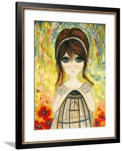 Big Eyed Girl Not Today-Wyanne-Framed Art Print