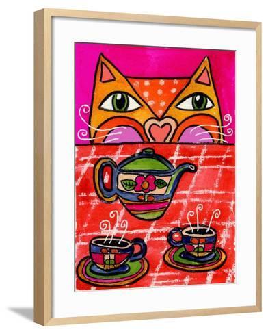Uninvited Guest for Tea-Wyanne-Framed Art Print
