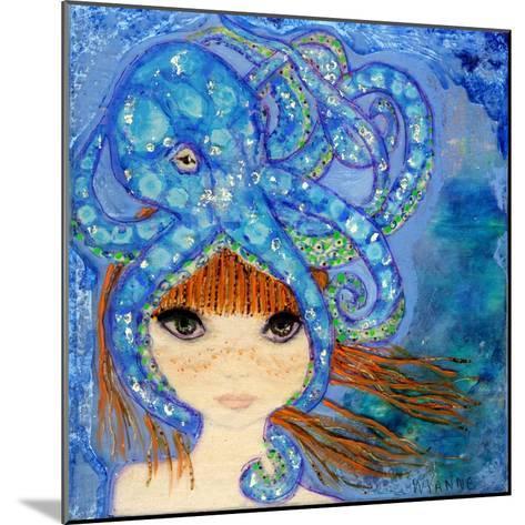 Big Eyed Girl Ocean Blue-Wyanne-Mounted Giclee Print