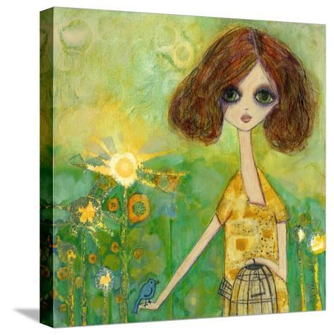 Big Eyed Girl Should You Stay or Should You Go-Wyanne-Stretched Canvas Print