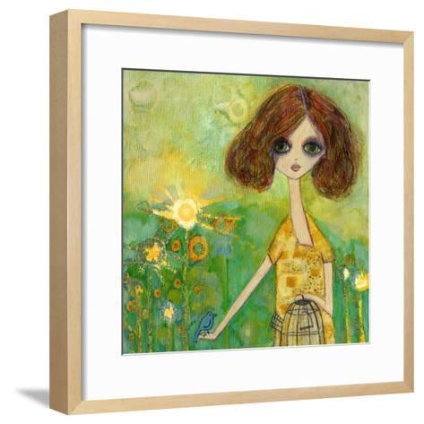 Big Eyed Girl Should You Stay or Should You Go-Wyanne-Framed Art Print