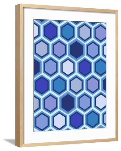 Cool Blue 3-Art Licensing Studio-Framed Art Print