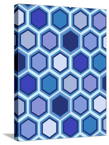 Cool Blue 3-Art Licensing Studio-Stretched Canvas Print
