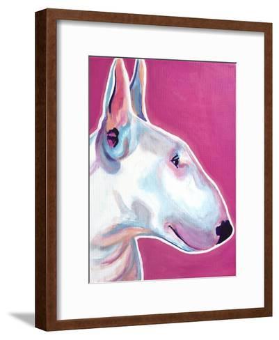 Bull Terrier - Bubble Gum-Dawgart-Framed Art Print