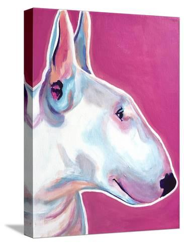 Bull Terrier - Bubble Gum-Dawgart-Stretched Canvas Print