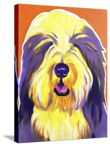 Bearded Collie - Banana-Dawgart-Stretched Canvas Print