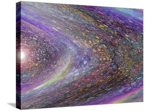Race around the Sun-MusicDreamerArt-Stretched Canvas Print