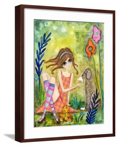 Big Eyed Girl the Charmer-Wyanne-Framed Art Print