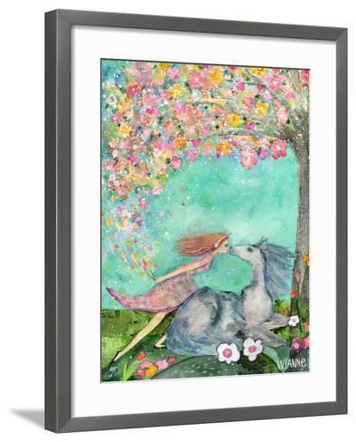 Big Eyed Girl the Promise-Wyanne-Framed Art Print