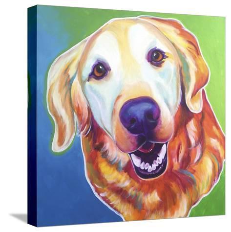 Daisy Mae-Dawgart-Stretched Canvas Print