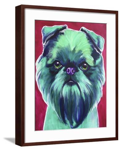 Bottle Green Brussels Griffon-Dawgart-Framed Art Print