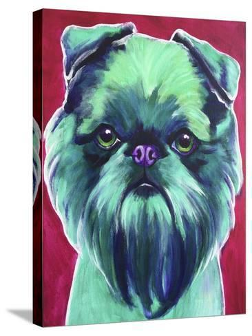 Bottle Green Brussels Griffon-Dawgart-Stretched Canvas Print