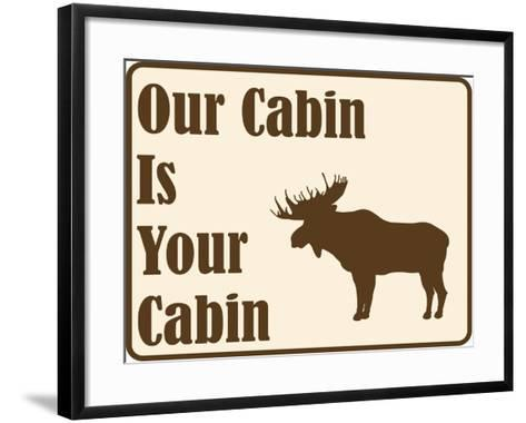 Our Cabin-Joanne Paynter Design-Framed Art Print