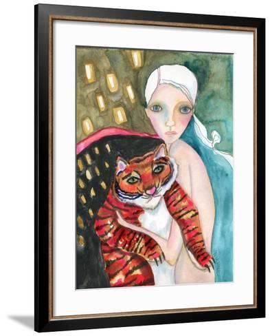 Bad Kitty-Wyanne-Framed Art Print