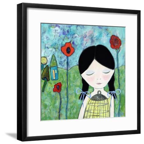 Big Eyed Girl Wish-Wyanne-Framed Art Print