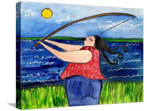Big Diva Fishing-Wyanne-Stretched Canvas Print