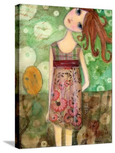 Big Eyed Girl Up-Wyanne-Stretched Canvas Print