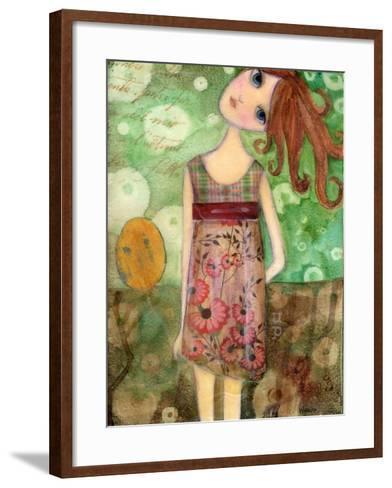 Big Eyed Girl Up-Wyanne-Framed Art Print