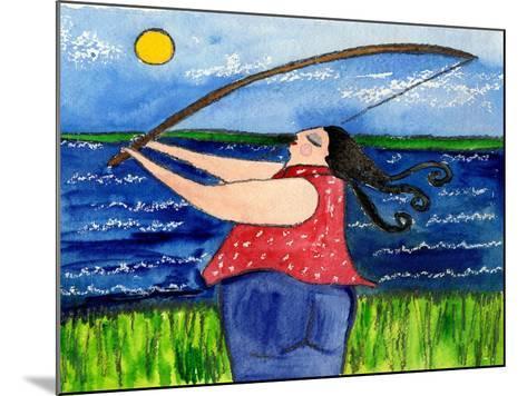 Big Diva Fishing-Wyanne-Mounted Giclee Print
