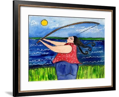 Big Diva Fishing-Wyanne-Framed Art Print