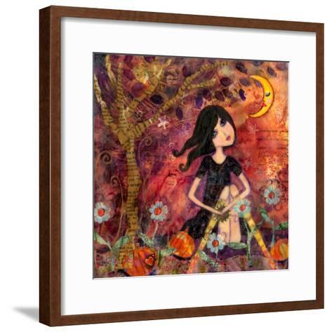 Big Eyed Tambourine Girl-Wyanne-Framed Art Print