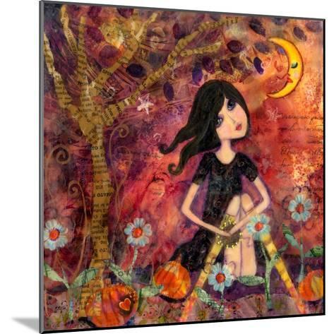Big Eyed Tambourine Girl-Wyanne-Mounted Giclee Print