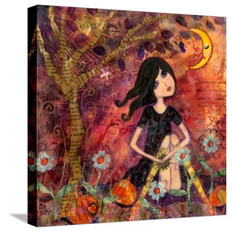 Big Eyed Tambourine Girl-Wyanne-Stretched Canvas Print