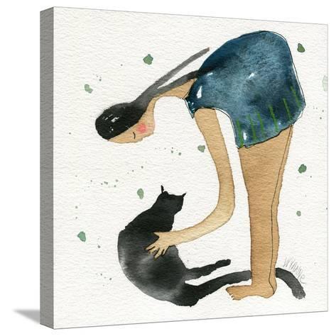 Big Diva Cat Scratch-Wyanne-Stretched Canvas Print