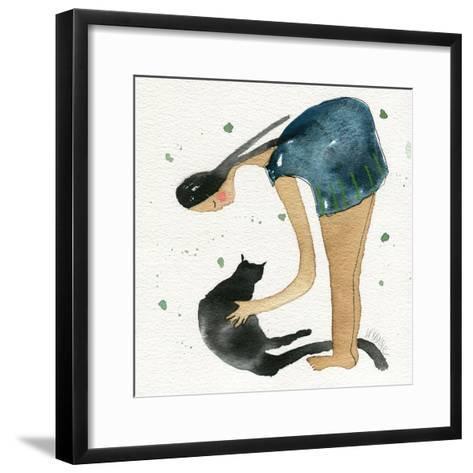 Big Diva Cat Scratch-Wyanne-Framed Art Print