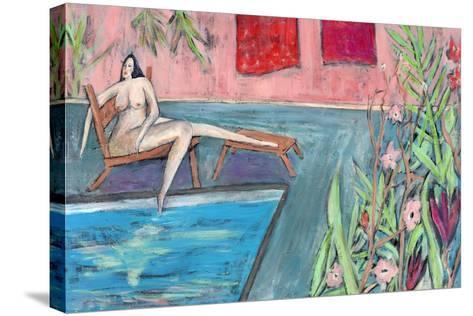 Big Diva Nude - Seeking-Wyanne-Stretched Canvas Print