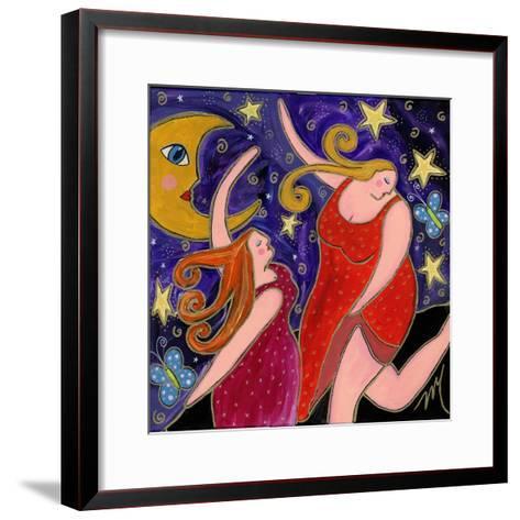 Big Diva Moon Goddesses Dancing-Wyanne-Framed Art Print