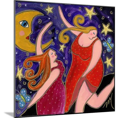 Big Diva Moon Goddesses Dancing-Wyanne-Mounted Giclee Print