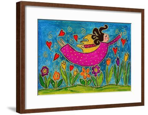 Big Diva Sprinkling Garden with Love-Wyanne-Framed Art Print